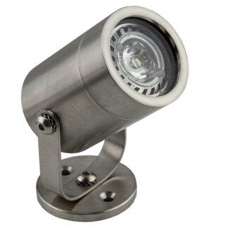 Wasserleuchte LED Warm-Weiß IP68 Edelstahl 12V