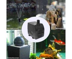 Wasserspielpumpe, Zimmerbrunnenpumpe, 450l/h 12V kep0450l