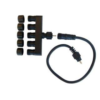 Mehrfachstecker, 5-fach, für 12V Strom, 2-polig kez0212