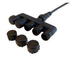 Multiple connector, 5-fold, for 12V, 2 pole kez0212