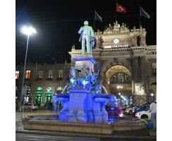 Wasserleuchte 6 Power LED, blau kel0921