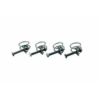 """KEZ0781 - 4x Befestigungsschelle für Spiralschläuche, Schlauchschelle 1/2 """" Zoll (12mm) / 4er Set"""