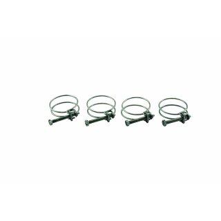 """KEZ0785 - 4x Befestigungsschelle für Spiralschläuche, Schlauchschelle 1 1/2 """" Zoll (40mm) / 4er Set"""