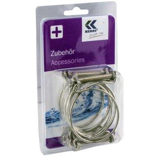 """KEZ0786 - 4x Befestigungsschelle für Spiralschläuche, Schlauchschelle 2 """" Zoll (50mm) / 4er Set"""