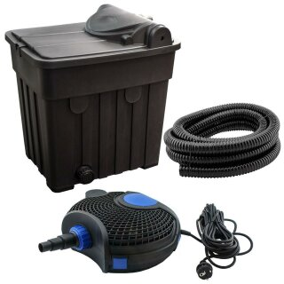 Kerry Electronics keb25000 - Teichfilter-Set für Teiche bis 25000L: inkl. Filter, Pumpe, Schlauch und Zubehör