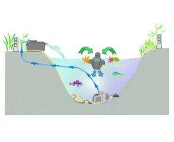 Kerry Electronics Skimmer, Schwimmskimmer, Blättersammler 3500 l/h - kes2500