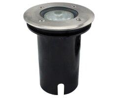Bodenleuchte LED aus Edelstahl, warm-weiß, 3 Power...