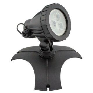KEL1241 - Basis Set - Gartenleuchte 3 Power LED, RGB, inkl Fernbedienung, 5,5W